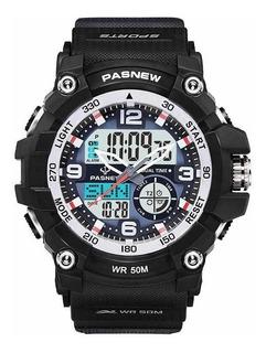 Reloj Hombre Acuatico Surf Deporte Led Pasnew No Smartwatch