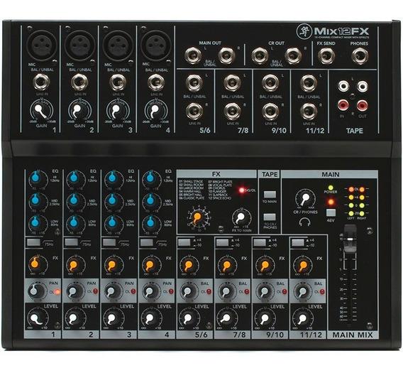 Mesa De Som Mackie Mix12fx 12 Canais Phantom Power C/ Efeito