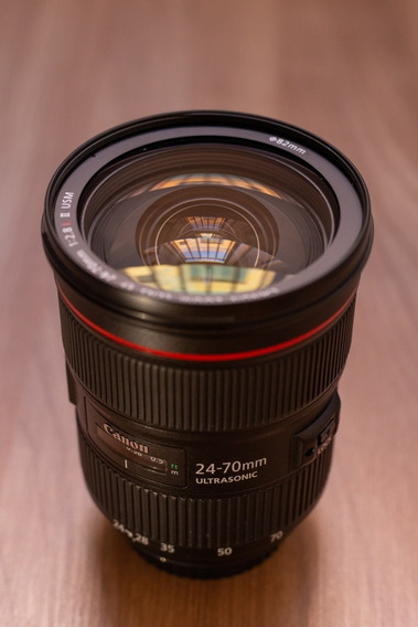 Lente Canon 24x70 2.8 Lii Muito Nova