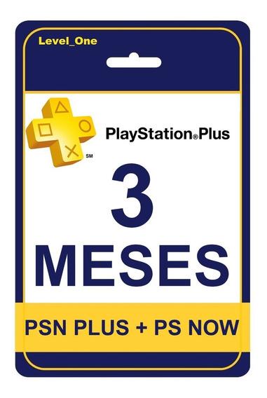 Playstation Psn Plus 3 Meses + Ps Now | Você Online