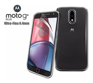 Motorola Moto G4 Plus Capa Gel Transparente Ultra Fina 0.4mm