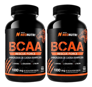 2x Bcaa Rescue Force 1000mg - 100 Cáps - Neo Nutri Val 11/19
