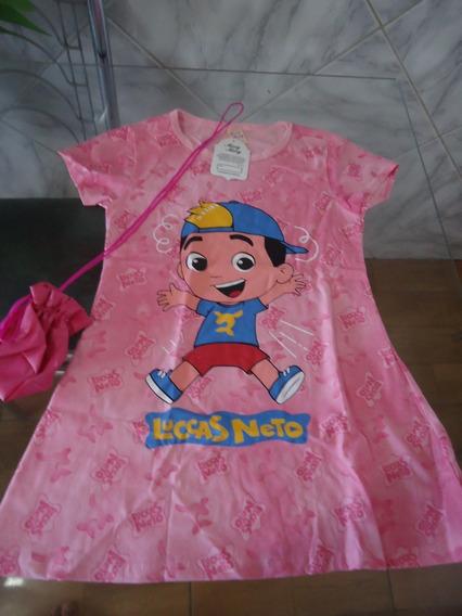 Vestido Infantil Lucas Neto Lindo + Brinde