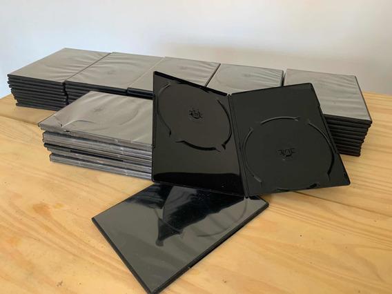 62 Capas Dvd E Cd - Box Estojo Para Duas Unidades Cor Preti