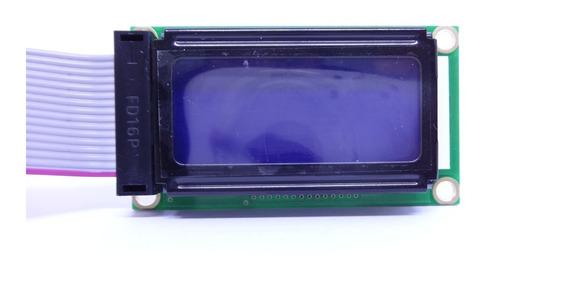 Display Lcd 8x2 0802 Back Azul Pic Atmel Pack 10 Pçs