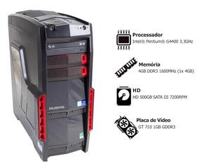Pc Gamer Goldentec Ggw10v Pentium 4gb 500gb Gt710 Win 10