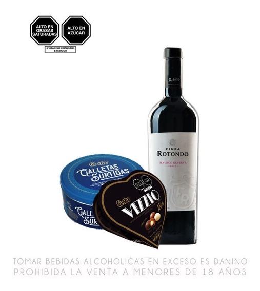 Pack Mamá Vino Tinto + Chocolate + Galletas