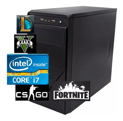 Cpu Pc Gamer Intel  Barato Core I7 3.4ghz 8gb Ssd240g 500wts