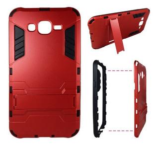 Samsung Galaxy J7 Hybrid Armor Case Rojo