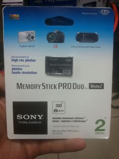 2 Cartoes Sony Pro Duo 2 Gb Original Lacrado Novo