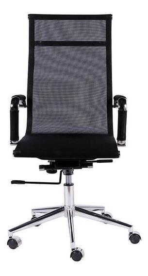 Cadeira De Escritório Alta Com Tela - Preto - Tommy Design