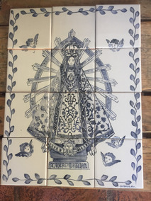 Virgen De Luján . Mural Ceramico 0,40x 0,30m
