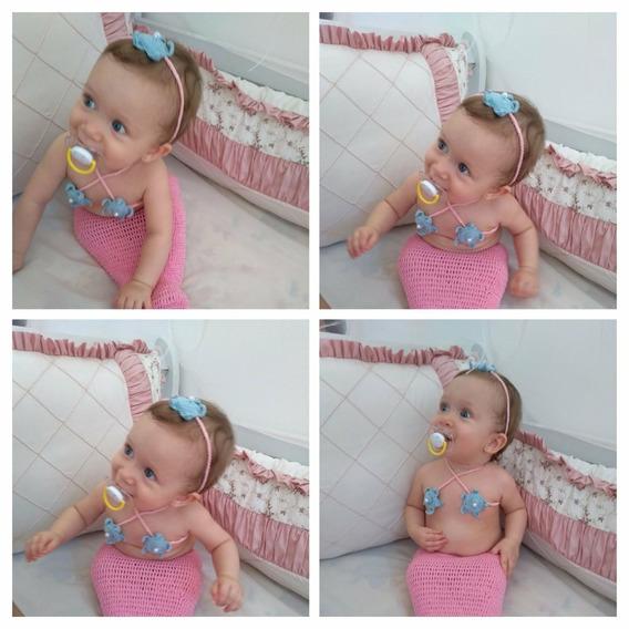Newborn Sereia De Crochê Fotografia De Bebês