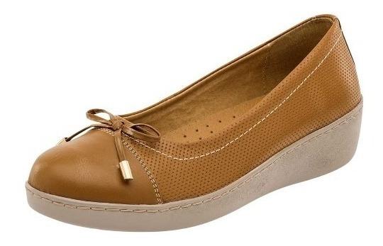 Zapato De Dama Camel 100% Piel Zoe