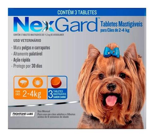 Imagem 1 de 1 de Nexgard De 2 A 4kg  Antipulgas E Carrapatos 3 Unidades