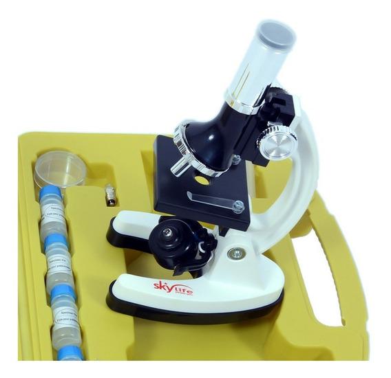 Microscópio Biológico 300-1200x Xsp-1xt 96 Pçs + Manual Kit