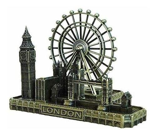 Escultura Deerbird Retro City Bronce London Eye Big Ben Towe