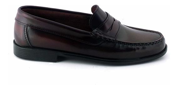 Mocasin Cuero Hombre Zapato Briganti Goma Negro - Hcmo00474