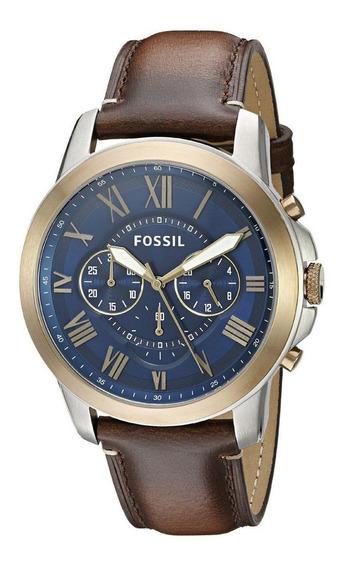 Relógio Fossil Masculino Cronografo Grant Fs5150 Original Nf
