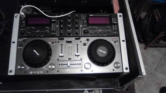 Gemini 6000 Dual Cd Player Dj- Mixer Cd / Mp3 Usb (140 Uds)