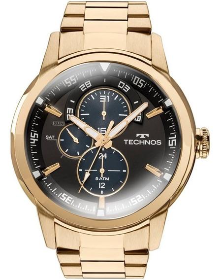 Relógio Technos 6p57aa/4p Dourado Estilo Invicta Promoção