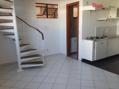 Loft Com Quarto E Cozinha Com Armários No Residencial Bercy Village À Venda, Sul, Águas Claras - Lf0010