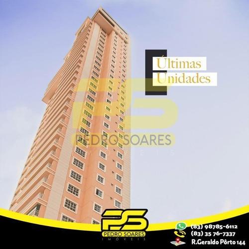 Apartamento Com 4 Dormitórios À Venda, 351 M² Por R$ 2.149.516 - Altiplano Cabo Branco - João Pessoa/pb - Ap2530