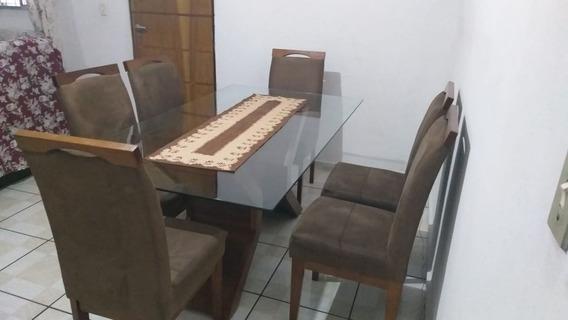 Mesa Com 6 Cadeiras, Madeira Pura
