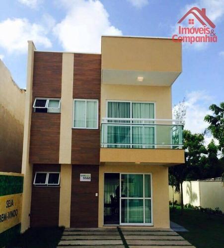 Casa Com 3 Dormitórios À Venda, 132 M² Por R$ 330.000,00 - Lagoa Redonda - Fortaleza/ce - Ca0314
