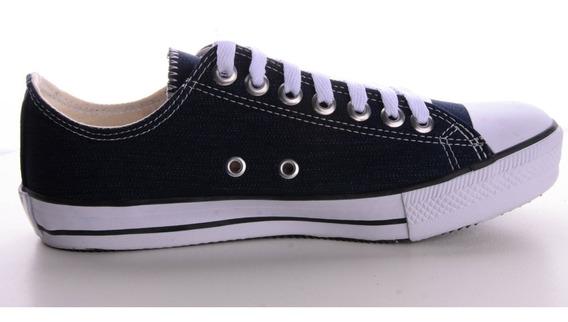 Tênis Converse All Star C.t. Cano Baixo Azul Jeans Escuro