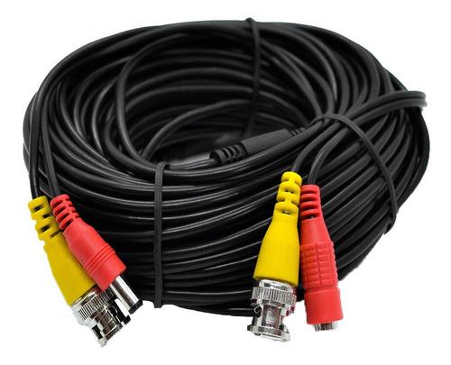 Imagen 1 de 9 de Cable Armado Con Fichas De Alimentación Y Video 20m Pv20