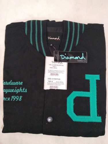 Jaqueta Sarja Masculina Diamond Un Polo Varsity Original | Mercado Livre