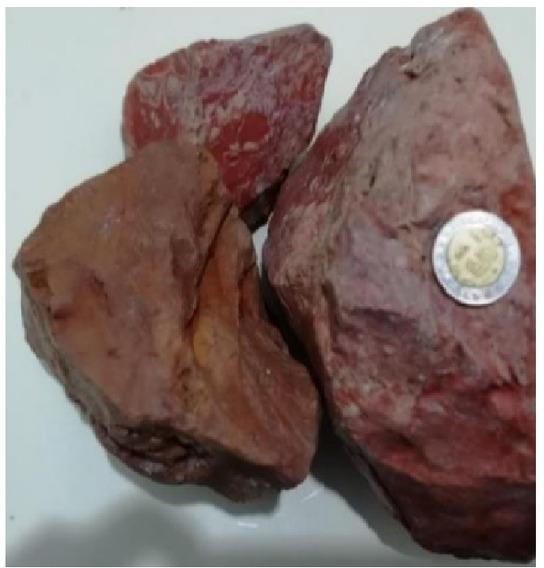 Jaspe Sangre, Venta Único Lote En México, Zacatecas $ 50 Kl.