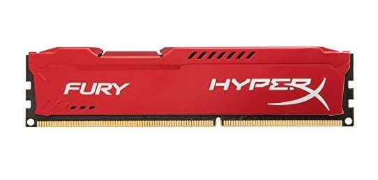 Memoria Kingston Hyperx Fury 8gb 1333mhz Ddr3 Cl9 Dimm - Red