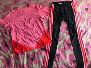 Conjunto adidas Originals Playera Leggings Pants Blusa