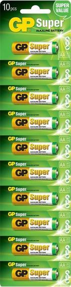 Pilas Baterias Aa Alcalina 10 Pilas Gp Duracion Excepcional