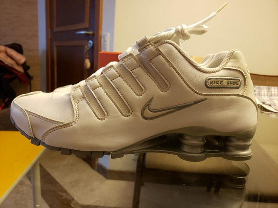 Tênis Nike Shox Feminino Original Branco Em Couro Novo.