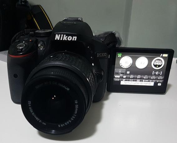 Câmera Nikon D5300 18-55mm + Bolsa + Tripé + 2 Baterias