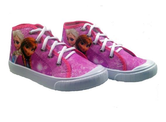 Tênis Infantil Cano Médio Frozen Pink Elsa Anna
