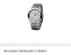 Relogio Masculino Prata Cromado Kit Com 2 Relógios Promoção