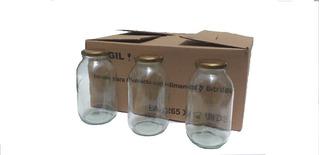 Caja Frasco Envase Recipiente D Vidrio 1 Lt Paga10 Lleva 12