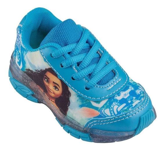 Tenis Feminino Frozen Aventura Congelante Sapato Azul Fma