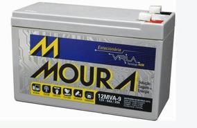 Bateria Moura Estacionária P/ No-breack Alarme 12mva9 - 9a