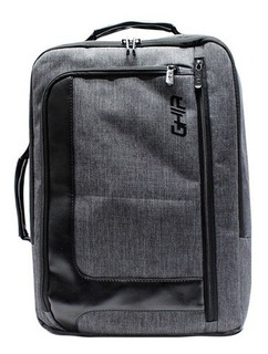 Backpack Maletin 2 En 1 Ghia 15.6 Gris Negra