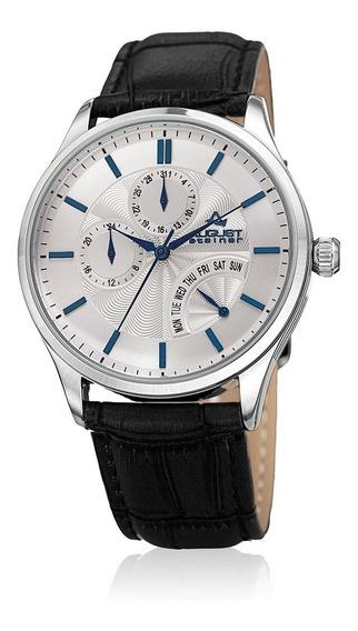 Reloj Casual De Acero Inoxidable Y Cuero De Cuarzo Para H