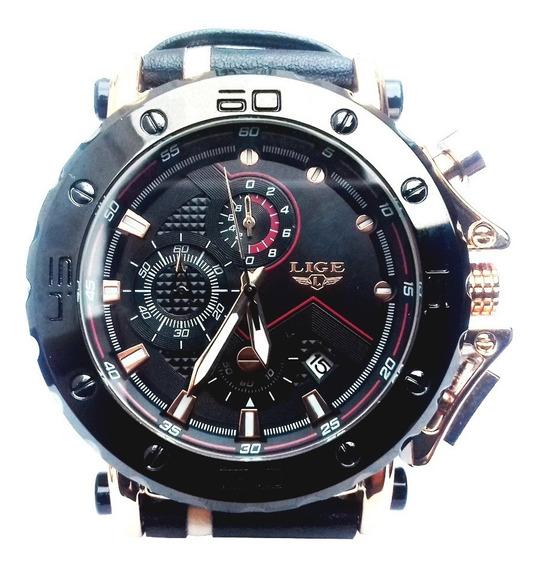 Relógio Lige De Alta Qualidade Superior Luxo 100% Original
