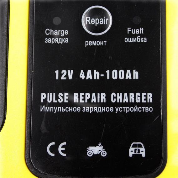 Carregador Desulfatador Bateria 12v Carro Moto 4ah Até 100ah