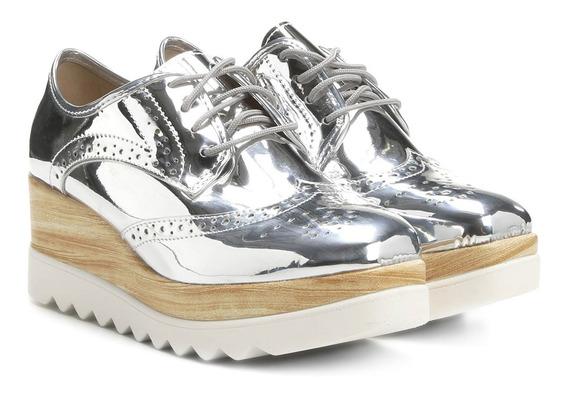 Sapato Moleca Prata Tratorado