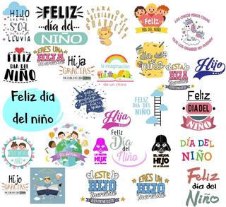 28 Vectores Frases Día Del Niño Vinilos Sublimacion Tazas