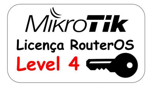 Imagem 1 de 1 de Licença Mikrotik Level 4